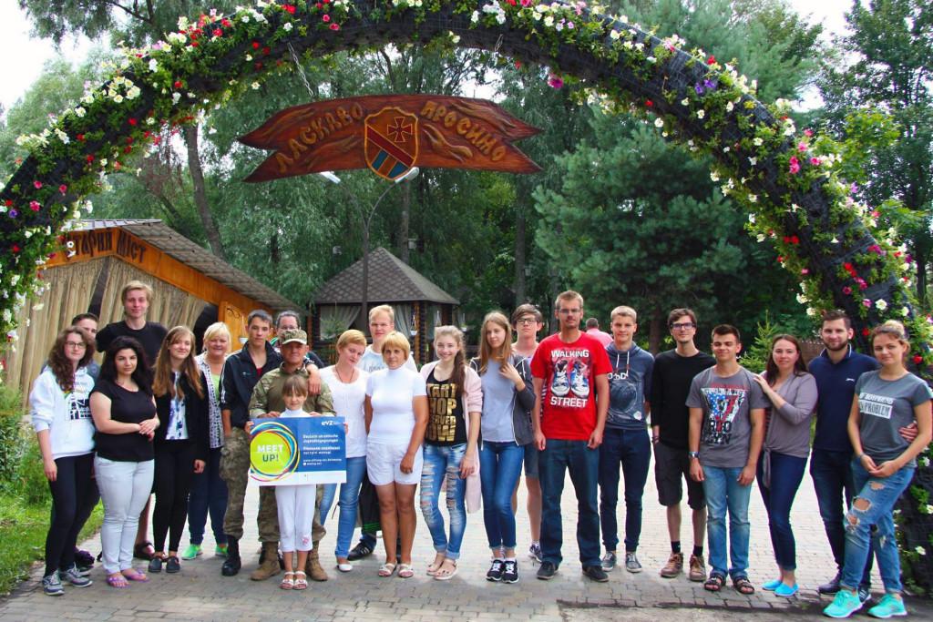 Beim Austausch: Jugendliche aus Frankfurt (Oder) und Slubice sowie Sumy und Donezk